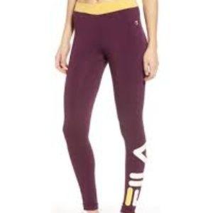 Fila NWOT Logo Maroon Leggings Imelda Tight XS